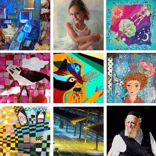 Montage of 9 Ora artists work