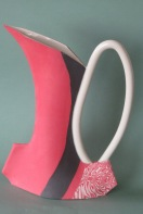 Linda Bourne Pottery Red Pitcher