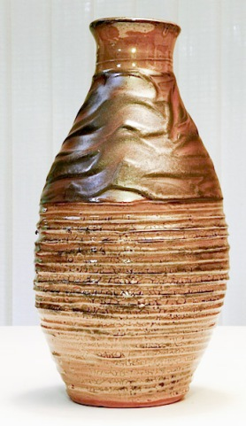 Glenn Decherd Ceramic Gold Vase