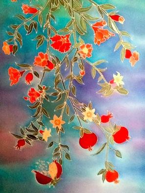 Diane Fredgant Hand painted Silks
