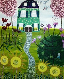 Julia Waco Acrylic Painting Summer Home