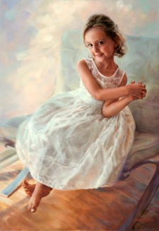 Diane Russell Painting Girl Sitting