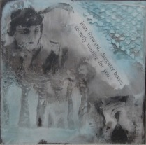 """mix media, acrylic and plaster All 8"""" x 8"""""""