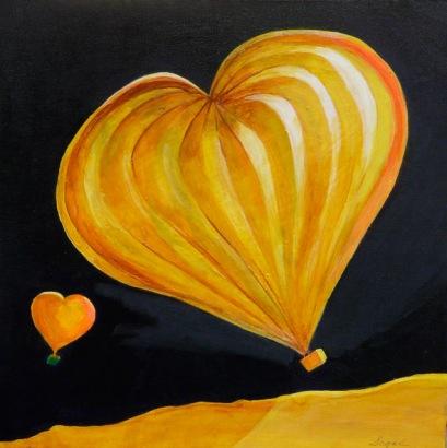 Sharon Segal Painting Heart Shaped Ballon