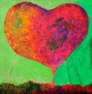 Sharon Segal Painting Heart