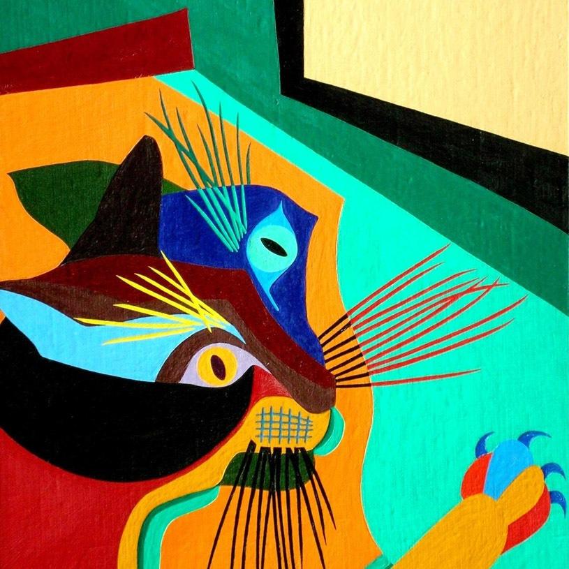 Boris Uan-Zo-Li Painting Cat Kuzya