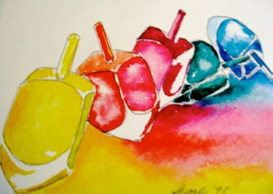 Chanukah Watercolor